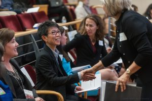 20181001, Monday, October 1, 2018, Boston, MA, USA – Brigham Health, Brigham and Women's Hospital held the Women in Medicine and Science Symposium in the Bornstein Family Amphitheater with a following reception in the Peter Bent Brigham building Rotunda at Brigham and Women's Hospital.   2018 Program  Welcome and Opening Remarks  - Kathryn Rexrode, MD, MPH, Director, Office for Women's Careers, CDI, BWH Chief, Division of Women's Health, BWH Associate Professor of Medicine, HMS - Elena Aikawa, MD, PhD, FAHA, Director, Vascular Biology Program, CICS, BWH Director, Heart Valve Translational Research Program, BWH Associate Professor of Medicine, HMS  Featured Oral Presentations - Xingbin Ai, MD, Research Fellow, HMS, Division of Rheumatology, Immunology and Allergy, Department of Medicine, BWH - Kelsy Greenwald, MD, Resident, BWH, Department of Emergency Medicine, BWH - Zoe Michael, MD, Research Fellow, HMS, Department of Pediatric Newborn Medicine, BWH - Katherine Lee, MD, MSc, Research Fellow, HMS, Department of Surgery, BWH  Keynote Speaker - Julie Silver, MD, Director, Cancer Rehabilitation Department of Physical Medicine & Rehabilitation Associate Professor of Medicine, HMS  Featured Poster Presenters - Sarah Cuddy, MB BCh BAO, Clinical Fellow, HMS, Department of Radiology, BWH - Conglin Liu, MD, PhD, Research Fellow, HMS, Division of Cardiovascular Disease, Department of Medicine, BWH - Paula Voinescu, MD, PhD Instructor, HMS, Department of Neurology, BWH - Yiwen Xu, PhD, Research Fellow, HMS, Department of Radiation Oncology, BWH - Suman Srinivasa, MD, MS, Assistant Professor, HMS, Division of Endocrine, Diabetes, and Hypertension/Cardiovascular Endocrinology, Department of Medicine, BWH - Lydie Naule, PhD, Research Fellow, HMS, Division of Endocrinology, Diabetes, and Hypertension, Department of Medicine, BWH  ( lightchaser photography © 2018 )