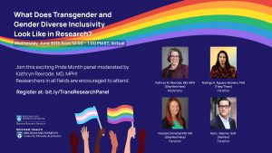 Zoom Webinar: What Does Transgender and Gender Diverse Inclusivity Look Like in Research?
