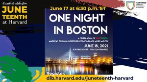 One Night in Boston: Celebrating Juneteenth, Black Music, and the Arts